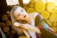 Russisch meisje royalty-vrije stock fotografie
