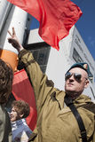 Russisch militair protest voor vrede Stock Fotografie