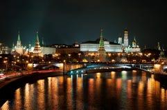 Russisch Moskou het Kremlin de populairste mening Stock Afbeeldingen