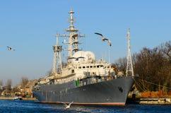 Russisch oorlogsschip Royalty-vrije Stock Afbeeldingen