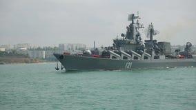 Russisch oorlogsschip stock videobeelden