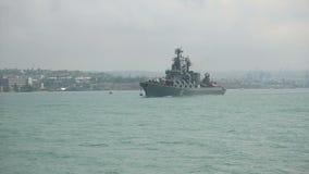 Russisch oorlogsschip stock footage