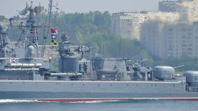 Russisch oorlogsschip Pytlivyj stock video