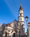 Orthodoxe Kirche Heilig-Nicholas in Vilnius Stockfotos