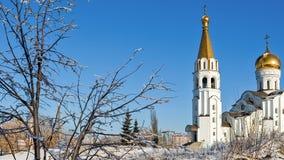 Russisch-Orthodoxe Kirche von St. Tatjana im Samara, Russland stock video