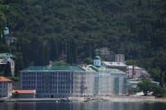 Russisch Panteleimon Monastery Royalty-vrije Stock Foto's