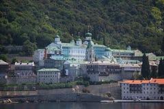Russisch Panteleimon Monastery Royalty-vrije Stock Afbeeldingen