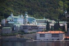Russisch Panteleimon Monastery Stock Afbeeldingen