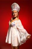 Russisch partijmeisje 19 - Dramatische verlichting Royalty-vrije Stock Foto's