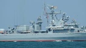 Russisch raketoorlogsschip stock footage