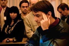 Russisch schaak Grandmaster, Alexander Morozevich Stock Afbeeldingen