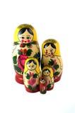 Russisch Speelgoed in lijn Royalty-vrije Stock Foto's