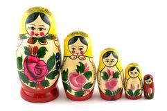 Russisch Speelgoed in lijn Stock Afbeeldingen