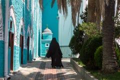 Russisch St Pantaleon Orthodox klooster bij Onderstel Athos stock fotografie