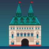 Russisch stijlhuis Stock Afbeeldingen
