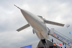 Russisch supersonisch vliegtuig Tupolev Turkije-144 Royalty-vrije Stock Fotografie
