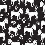 Russisch Toy Terrier, naadloos patroon met honden Royalty-vrije Stock Foto