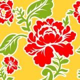 Russisch traditioneel bloemenpatroon Nationaal ornament Khokhloma Royalty-vrije Stock Afbeeldingen