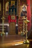 Russisch traditioneel orthodox kerkbinnenland stock afbeelding