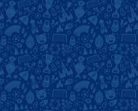Russisch van het de voetbalkampioenschap 2018 van het Wereldbekervoetbal naadloos patroon als achtergrond Royalty-vrije Stock Afbeelding