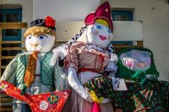 Russisch volks de winterfestival in het Kaluga-gebied op 13 Maart, 2016 Stock Afbeeldingen
