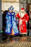 Russisch volks de winterfestival in het Kaluga-gebied op 13 Maart, 2016 Stock Foto's