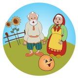 Russisch volksverhaal over een kolobok stock afbeelding