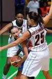 Russisch vrouwenbasketbal 2009 Royalty-vrije Stock Afbeeldingen