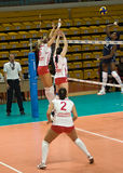 Russisch vrouwenvolleyball Stock Afbeelding