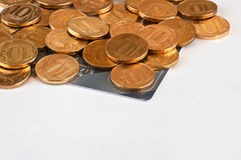 Russische 10-Münze Stockbild