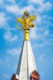 Russische adelaar op de toren Stock Foto