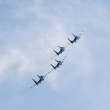 Russische aerobatic Team Russe-Ritter Lizenzfreies Stockfoto