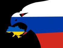Russische agressie in de Oekraïne stock illustratie