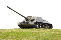 Russische alte selbstangetriebene Artillerie Stockfotos