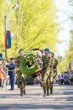 Russische ambtenaren bij de parade ter gelegenheid van de Victory Day-vieringen op 9 Mei Stock Afbeeldingen