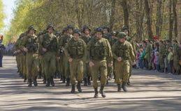 Russische ambtenaren bij de parade ter gelegenheid van de Victory Day-vieringen op 9 Mei Stock Afbeelding