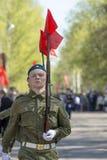 Russische ambtenaren bij de parade ter gelegenheid van de Victory Day-vieringen op 9 Mei Stock Foto