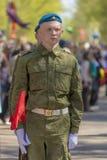 Russische ambtenaren bij de parade ter gelegenheid van de Victory Day-vieringen op 9 Mei Royalty-vrije Stock Afbeeldingen