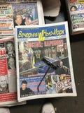 Russische amerikanische Zeitungen Stockbild