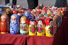 Russische Andenken einer verschachtelten Puppe Stockfotos