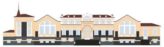 Russische architectuur Station in de stad van Kungur Het oude gebouw, Permanentgebied vector illustratie