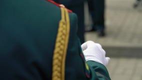 Russische Armeesoldaten stock video