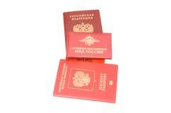 Russische Ausweispapiere Lizenzfreie Stockfotos