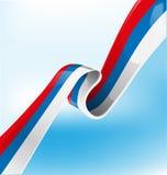 Russische Bandflagge Lizenzfreies Stockbild