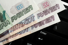 Russische bankbiljetten Stock Foto