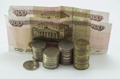 Russische bankbiljetten Stock Foto's