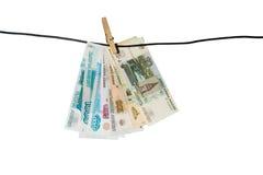 Russische bankbiljetten stock afbeelding