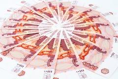 Russische Banknoten Stockfotografie