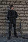Russische besondere Kräfte, die an einem Boden der militärischen Ausbildung ausbilden Lizenzfreie Stockfotos