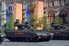 Russische BMPT-Ondersteunende de Machine` Begeindiger ` van het Tankwapen bij de militaire parade ter ere van Victory Day Stock Afbeeldingen
